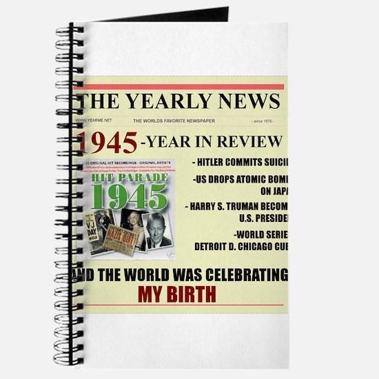 born in 1945 birthday gift Journal