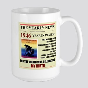 born in 1946 birthday gift Large Mug