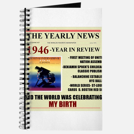 born in 1946 birthday gift Journal