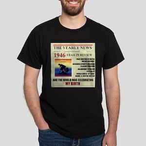 born in 1946 birthday gift Dark T-Shirt