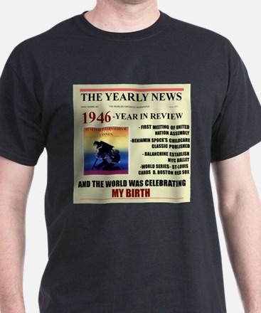 born in 1946 birthday gift T-Shirt