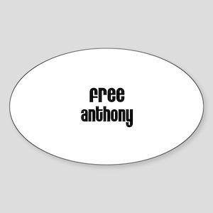 Free Anthony Oval Sticker