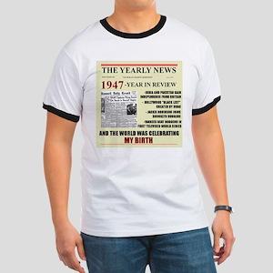 born in 1947 birthday gift Ringer T