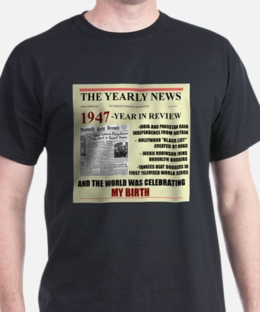 born in 1947 birthday gift T-Shirt