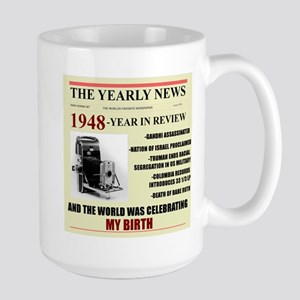 born in 1948 birthday gift Large Mug