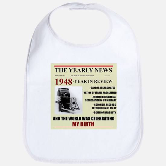 born in 1948 birthday gift Bib