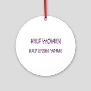 Half Woman Half Sperm Whale Ornament (Round)