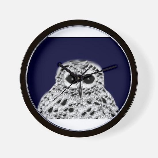 Tatted Owlive Mascot Wall Clock