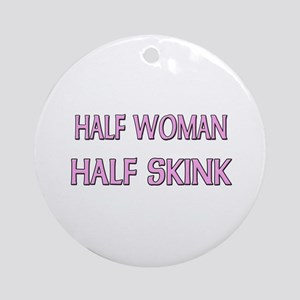 Half Woman Half Skink Ornament (Round)