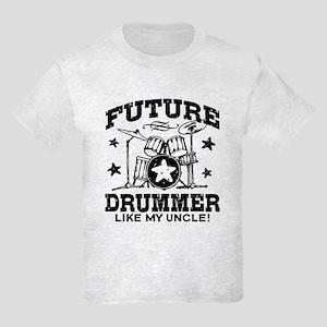 Future Drummer Like My Uncle Kids Light T-Shirt