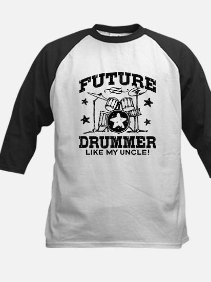 Future Drummer Like My Uncle Kids Baseball Jersey