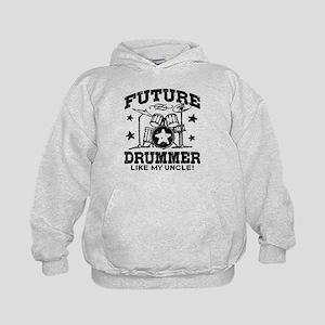 Future Drummer Like My Uncle Kids Hoodie