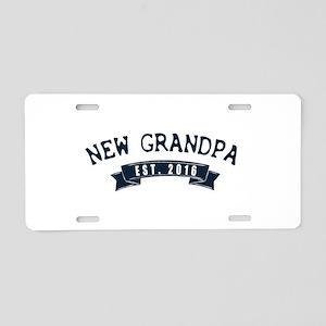 new grandpa Aluminum License Plate