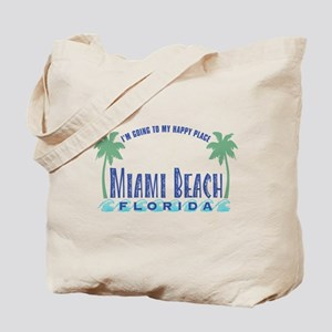 Miami Beach Happy Place - Tote or Beach Bag