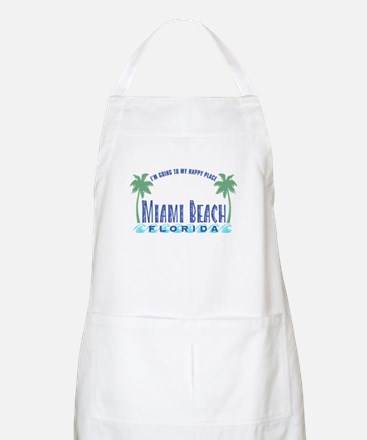 Miami Beach Happy Place - BBQ Apron