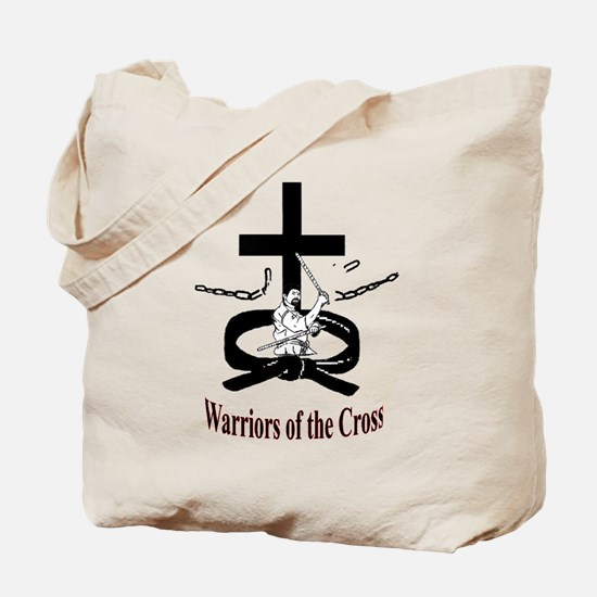 Warriors of the Cross Tote Bag
