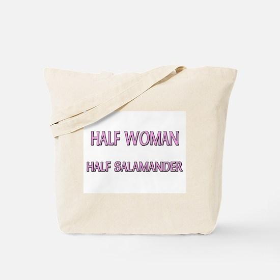 Half Woman Half Salamander Tote Bag