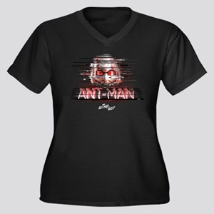 Ant-Man Dist Women's Plus Size V-Neck Dark T-Shirt