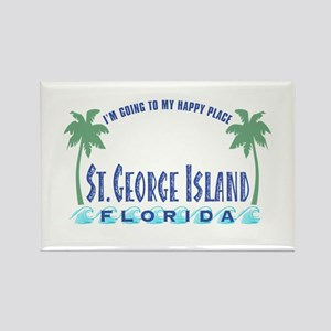 St. George Happy Place - Rectangle Magnet
