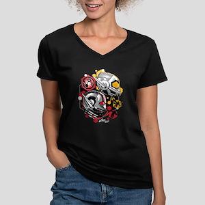 Ant-Man & The Wasp Women's V-Neck Dark T-Shirt