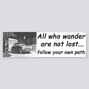 'All who wander', Bumper Sticker