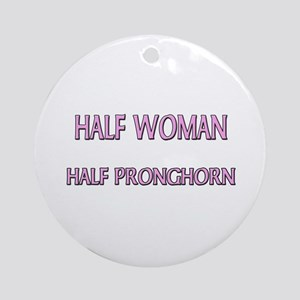 Half Woman Half Pronghorn Ornament (Round)