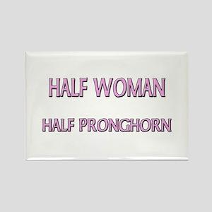 Half Woman Half Pronghorn Rectangle Magnet