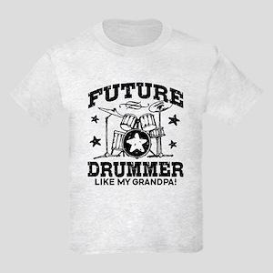 Future Drummer Like My Grandpa Kids Light T-Shirt