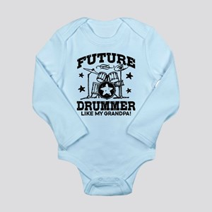 Future Drummer Like My Long Sleeve Infant Bodysuit