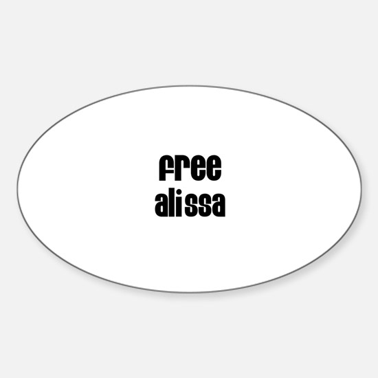 Free Alissa Oval Decal
