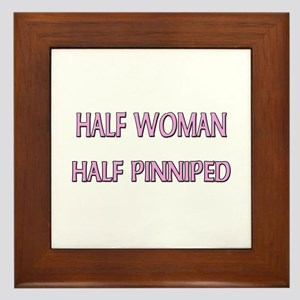 Half Woman Half Pinniped Framed Tile