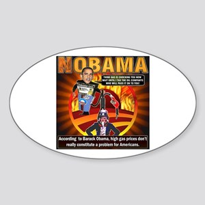 Obama on oil and gas Oval Sticker
