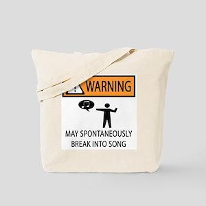 Spontaneous Singer Tote Bag