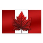 Canada Souvenir Rectangle Sticker 10 pk)