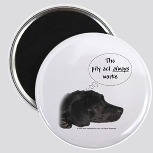 """Pity Act- Black Lab 2.25"""" Magnet (10 pack)"""