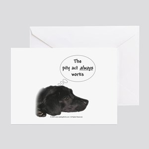 Pity Act- Black Lab Greeting Cards (Pk of 10)
