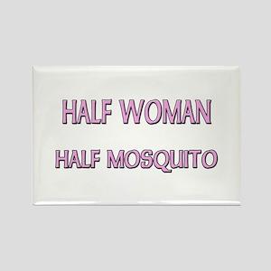 Half Woman Half Mosquito Rectangle Magnet