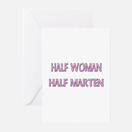 Half Woman Half Marten Greeting Cards (Pk of 10)
