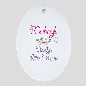 Makayla - Daddy's Princess Oval Ornament