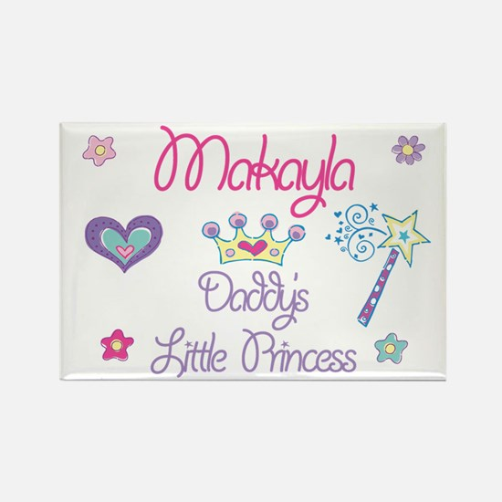 Makayla - Daddy's Princess Rectangle Magnet