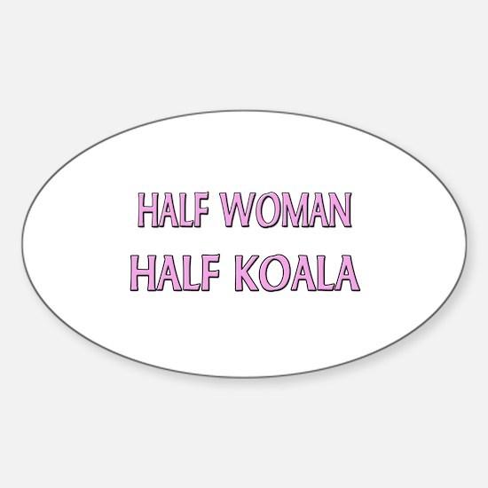 Half Woman Half Koala Oval Decal