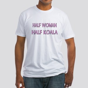 Half Woman Half Koala Fitted T-Shirt
