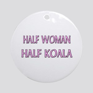 Half Woman Half Koala Ornament (Round)