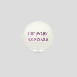 Half Woman Half Koala Mini Button