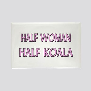 Half Woman Half Koala Rectangle Magnet