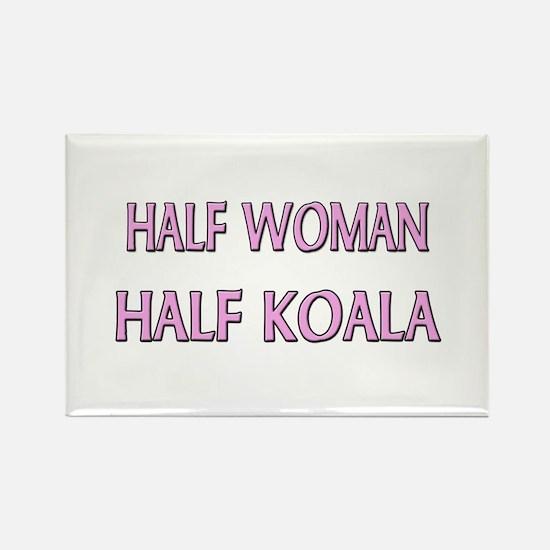 Half Woman Half Koala Rectangle Magnet