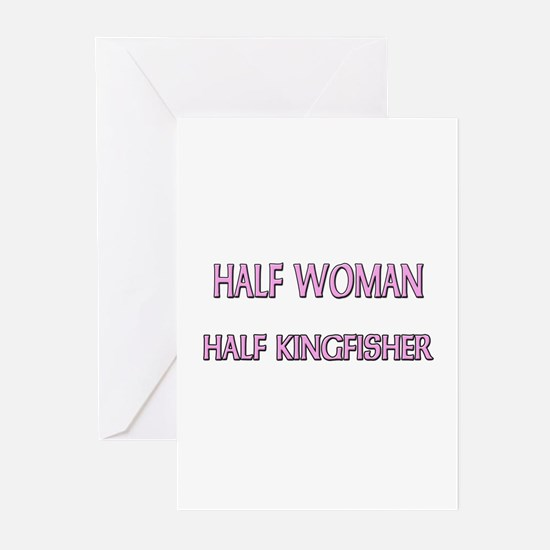 Half Woman Half Kingfisher Greeting Cards (Pk of 1