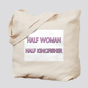 Half Woman Half Kingfisher Tote Bag