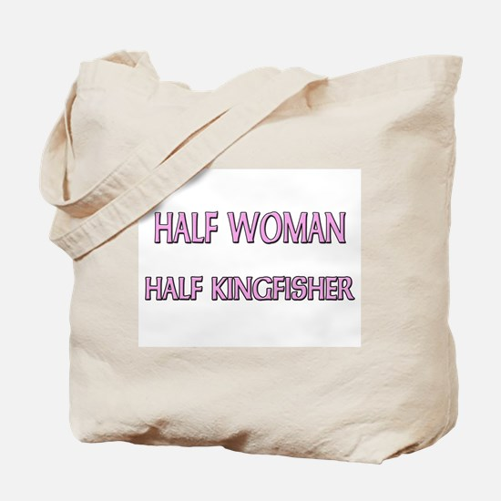 Half Woman Half Kingfisher Tote Bag