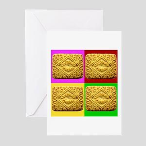 Custard Cream Greeting Cards (Pk of 10)